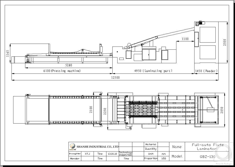 схема оборудования для упаковки гофрокартона