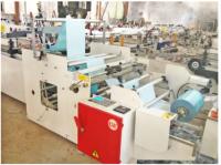 Автоматическая линия для производства санитарных пакетов с v образным дном из ламината бумага/LDPE.