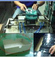 Полуавтоматическая машина для высечки полукруглых отверстий в коробках
